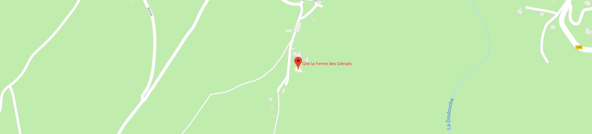 ferme des Glénats holiday rental location map